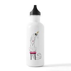 Borzoi Princess Silver Sable Water Bottle
