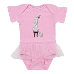 Borzoi Princess Silver Sable Baby Tutu Bodysuit