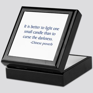 Chinese Proverb Keepsake Box