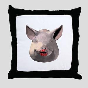 Lipstick Pig Throw Pillow