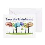 Brain Forest Greeting Cards