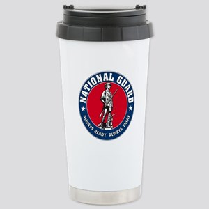 National Guard Logo Stainless Steel Travel Mug