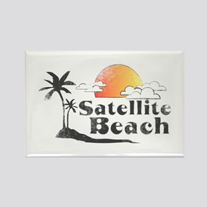 Satellite Beach Rectangle Magnet