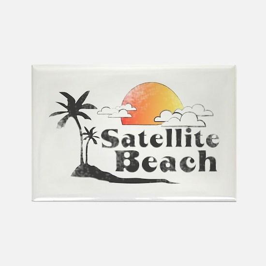 Satellite Beach Rectangle Magnet