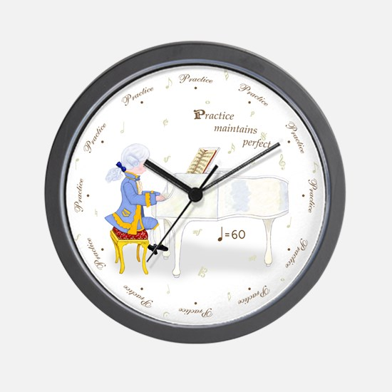 Practice Round the Clock Piano Wall Clock