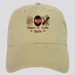 Peace Love Style Hairstylist Cap