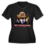 Obama Lipstick Jackass Women's Plus Size V-Neck Da