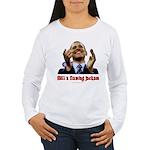 Obama Lipstick Jackass Women's Long Sleeve T-Shirt