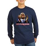 Obama Lipstick Jackass Long Sleeve Dark T-Shirt
