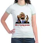 Obama Lipstick Jackass Jr. Ringer T-Shirt