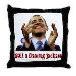 Obama Lipstick Jackass Throw Pillow