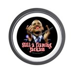 Obama Lipstick Jackass Wall Clock