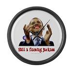 Obama Lipstick Jackass Large Wall Clock