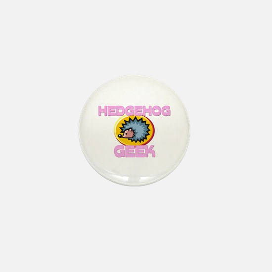 Hedgehog Geek Mini Button