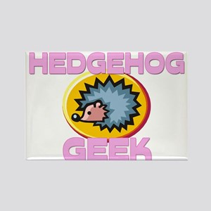 Hedgehog Geek Rectangle Magnet