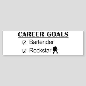 Bartender Career Goals Rockstar Bumper Sticker