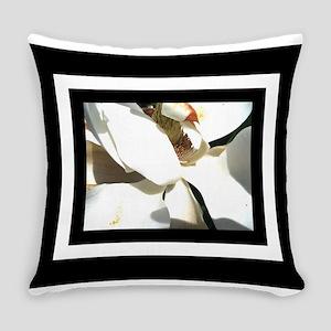 Magnolia Blak White Everyday Pillow