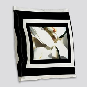Magnolia Blak White Burlap Throw Pillow