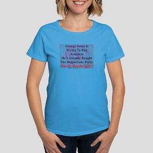 """George Soros Is Buying"" Women's Dark T-Shirt"