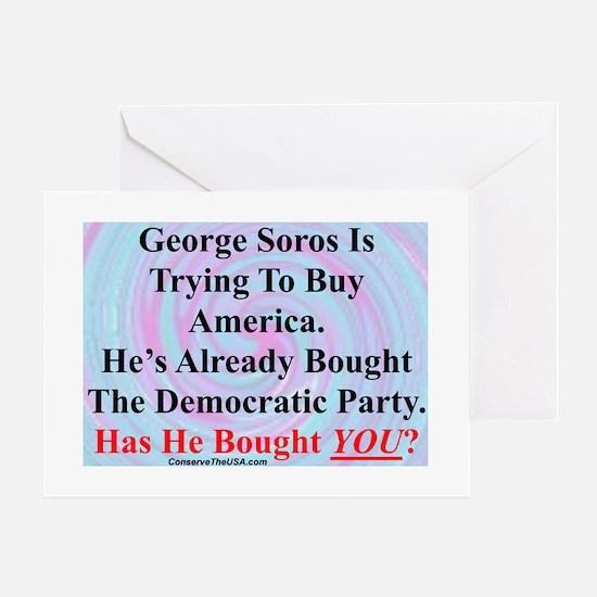 """""""George Soros Is Buying"""" Greeting Card"""