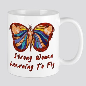 Strong Woman Learning To Fly Mug