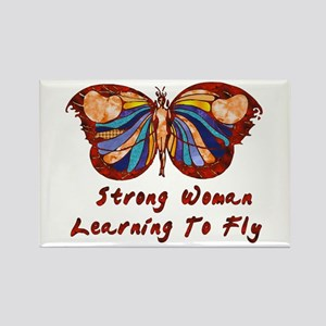 Strong Woman Learning To Fly Rectangle Magnet