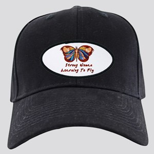 Strong Woman Learning To Fly Black Cap