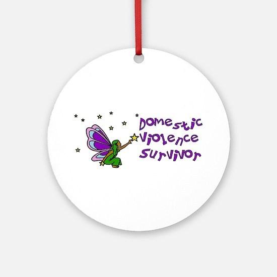 Domestic Violence Survivor Ornament (Round)
