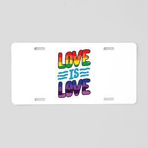 Gay Pride Lesbian LGBT Rain Aluminum License Plate