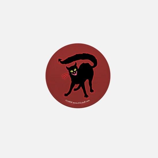 Devil Cat Red Mini Button