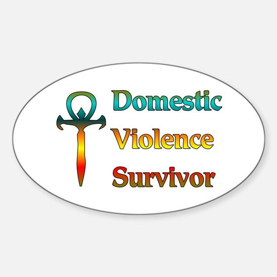 Domestic Violence Survivor Oval Decal