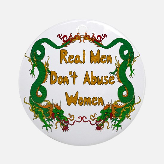 Ending Domestic Violence Ornament (Round)