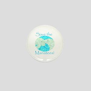 Save the Manatees Mini Button