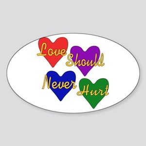 End Domestic Violence Oval Sticker