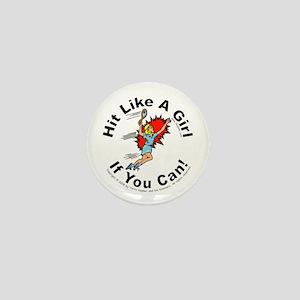 Hit/Girl (tennis 1) Mini Button