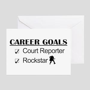 Court Reporter Career Goals Rockstar Greeting Card
