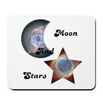 MOON AND STARS Mousepad