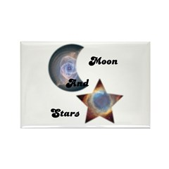 MOON AND STARS Rectangle Magnet