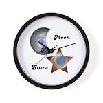 MOON AND STARS Wall Clock