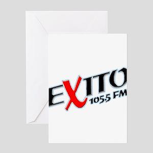 Radio Exito Logo Angled (Blac Greeting Card