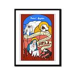 The Mother of God Visits Hell Framed Panel Print