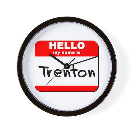 Hello my name is Trenton Wall Clock