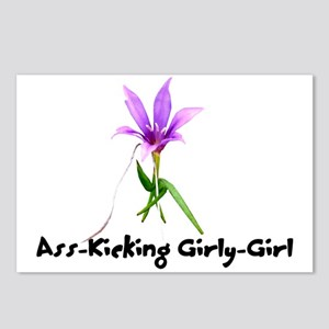 Ass-Kicking Girly-Girl Postcards (Package of 8)