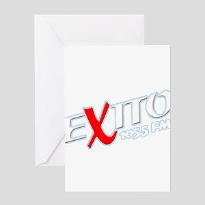 Radio Exito Logo Angled (Whit Greeting Card
