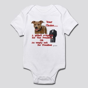 Pitbull with Lipstick Infant Bodysuit