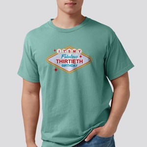 Las Vegas Birthday 30 Mens Comfort Colors T-Shirt