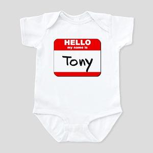 Hello my name is Tony Infant Bodysuit