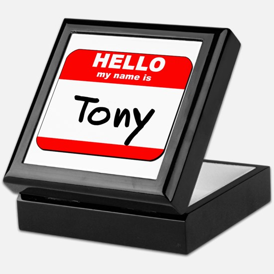 Hello my name is Tony Keepsake Box
