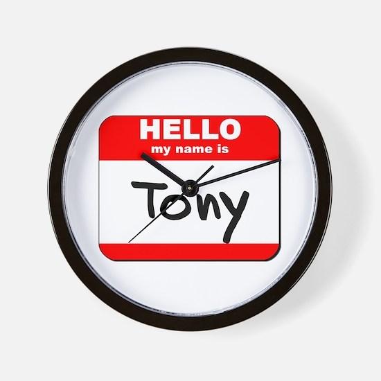 Hello my name is Tony Wall Clock