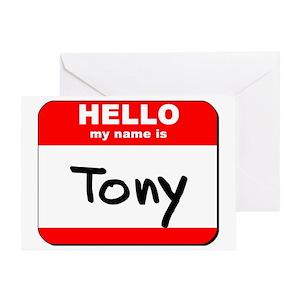 my name is tony